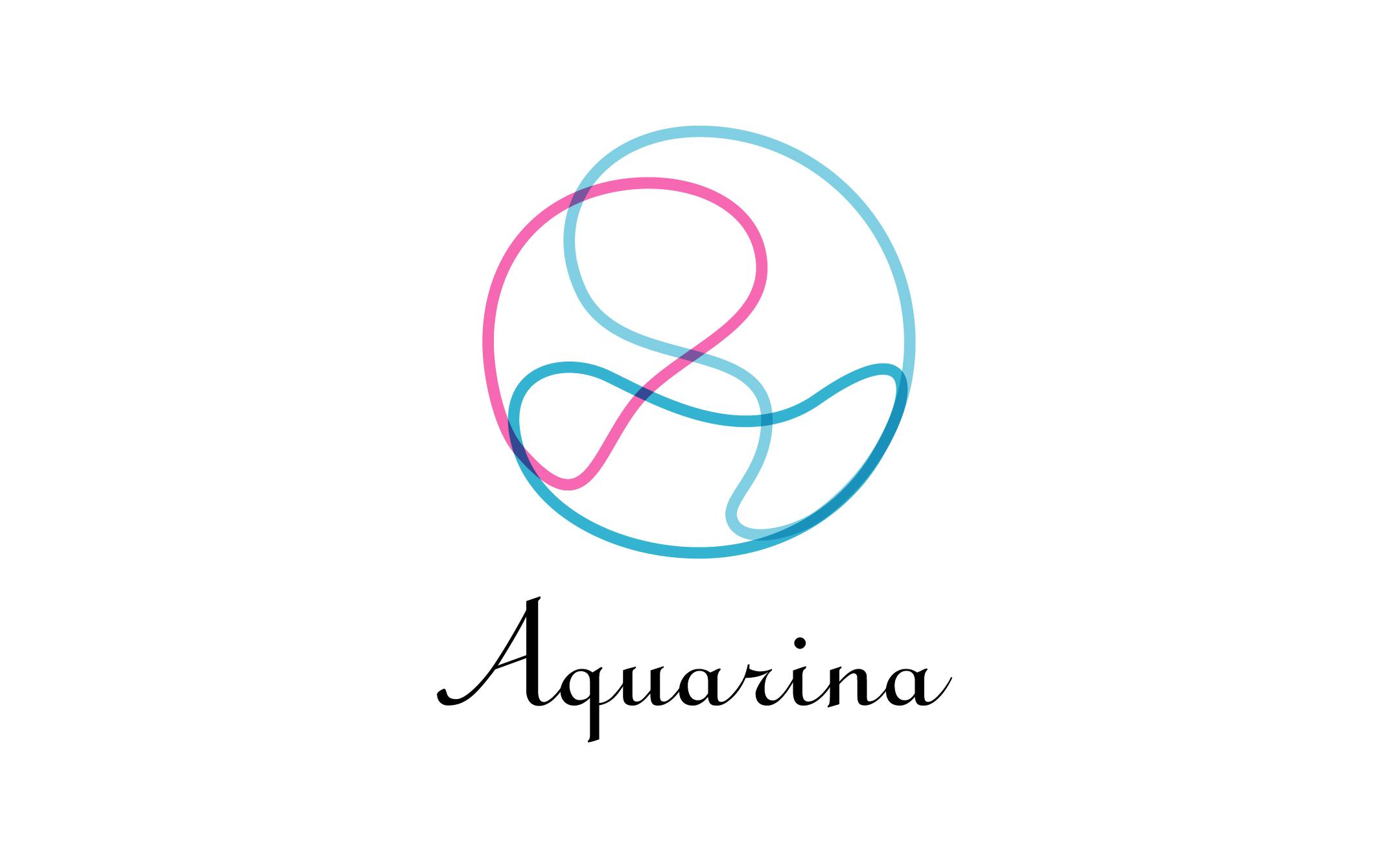 ヒーリング Aquarina ロゴ制作