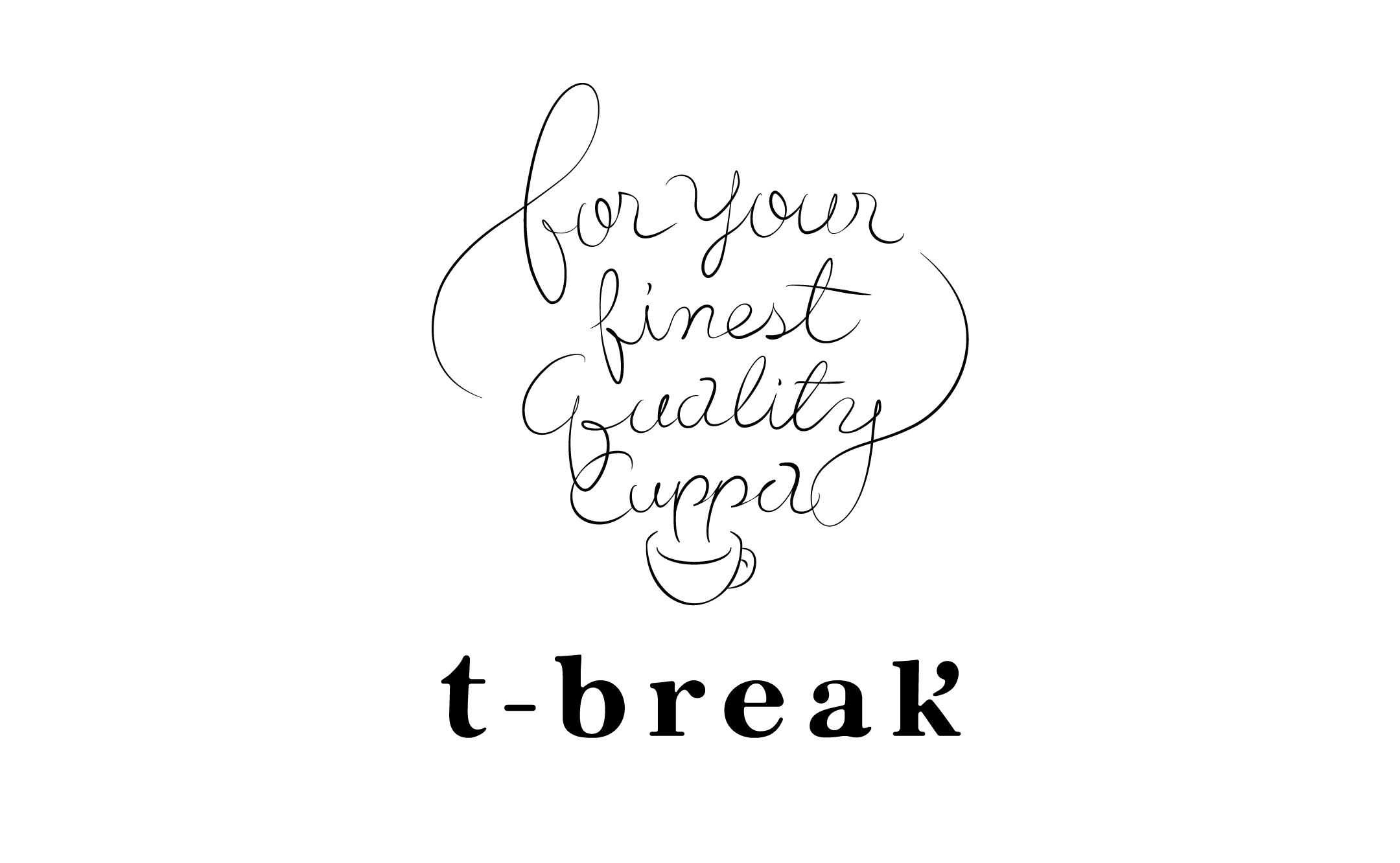 シングルオリジンティー販売 t-break ロゴ制作